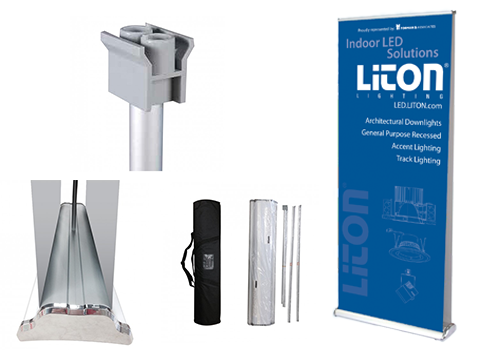 double-sided retractable banner stand 33x81